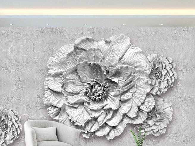 Фотообои Цветок из гипса