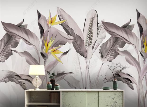 Серые листы пальм