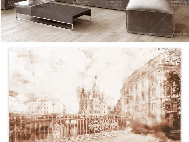 Фотообои Винтажный город