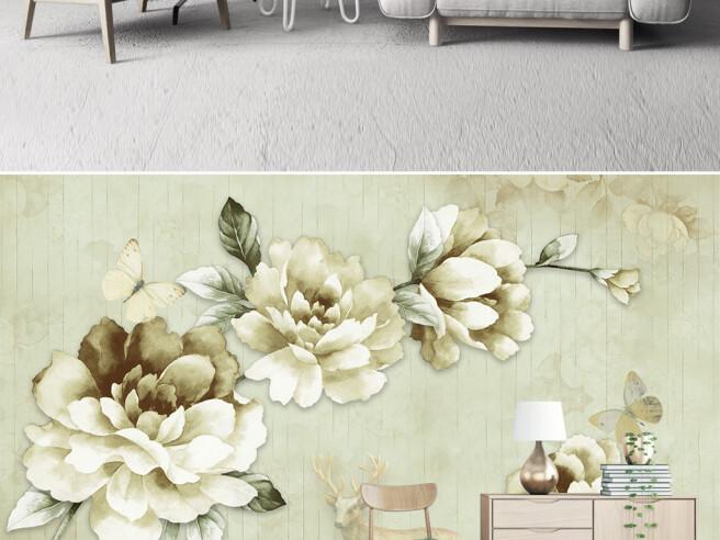 Фотообои Оливковые цветы
