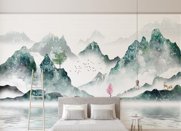 Китайская лодка на озере