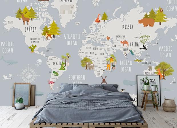 Детская карта в скандинавском стиле