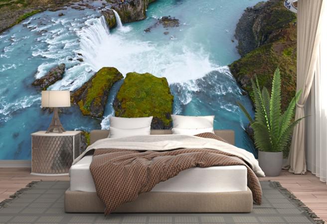 Фотообои водопад с верху