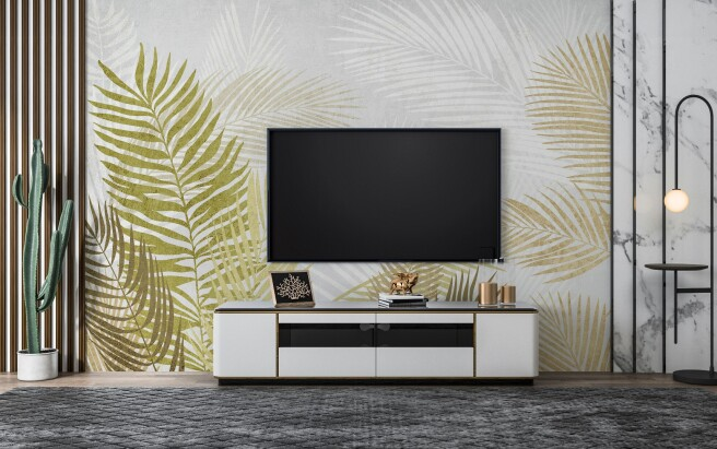 Фотообои светлые пальмовые листья