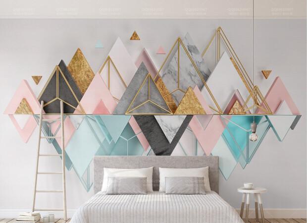 Треугольные разноцветные горы