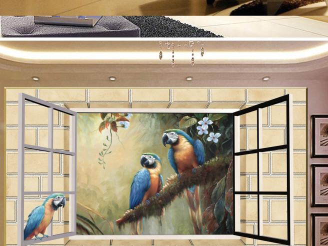 Попугаи в окне