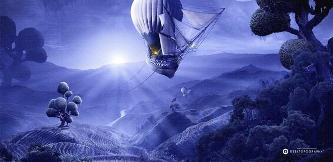 Фотообои Летучий корабль