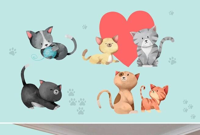 Фотообои Влюбленные коты