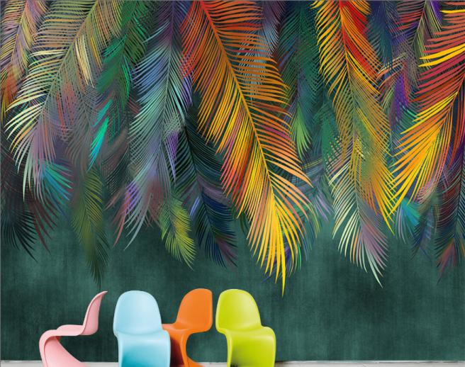 Фотообои Разноцветные листья