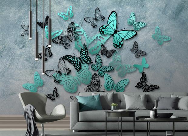 Бирюзовые бабочки