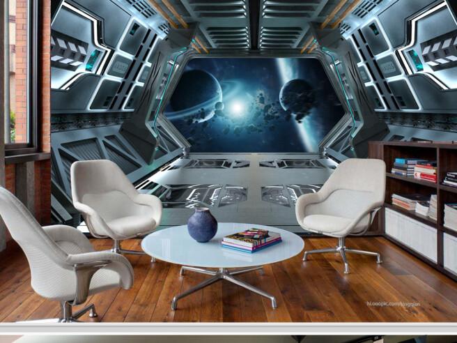 Из окна космического корабля