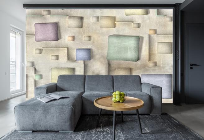 Фотообои подушки на стене