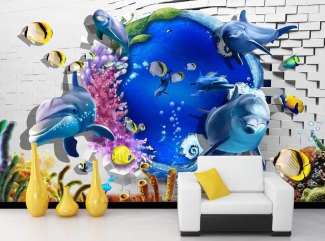Подводный мир за стеной