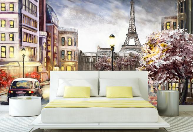 Фотообои рисунок парижа