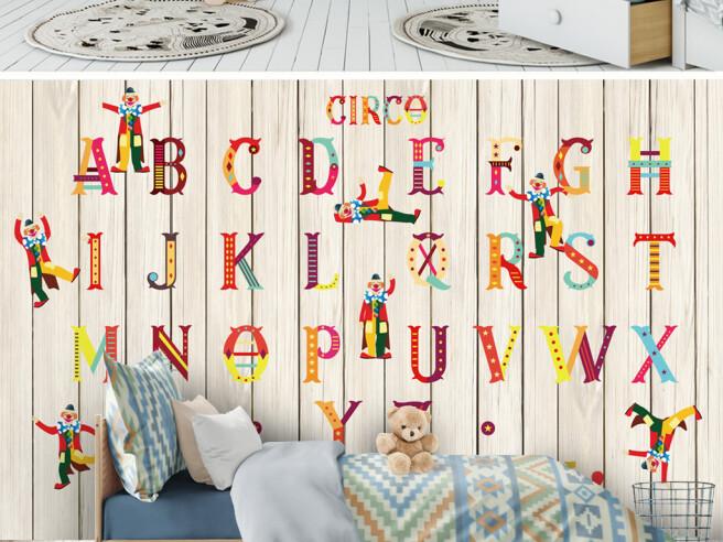 Алфавит на деревянном фоне
