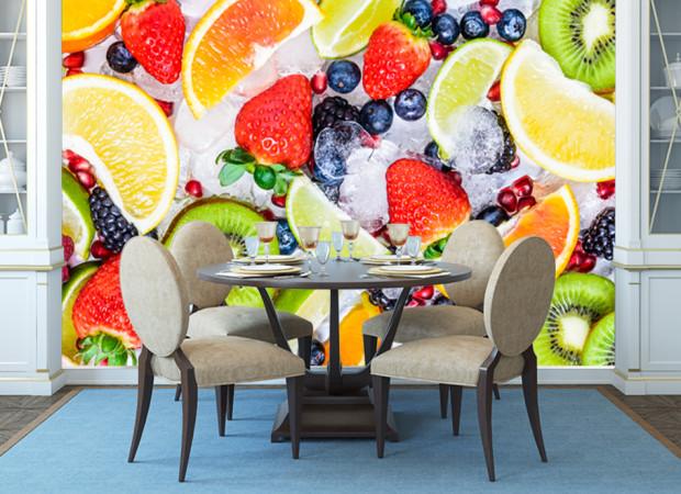 фрукты на льду