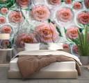 Фотообои розы в каплях