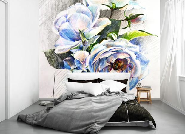 розы карандашом