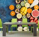 Фотообои фрукты на синем