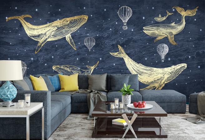 Фотообои киты и шары