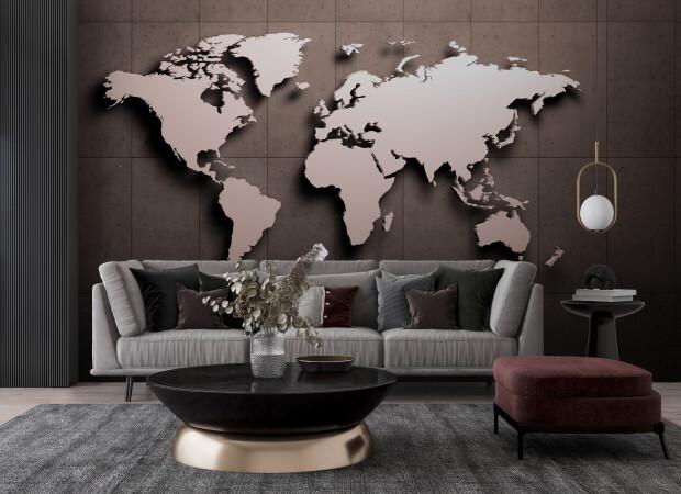 3д карта мира