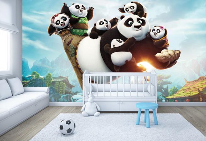 Фотообои маленькие кунг-фу панды