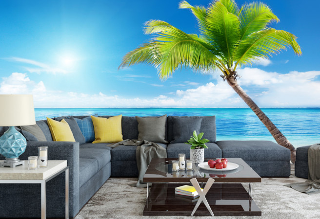Фотообои Пальмы и океан