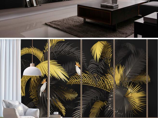 Черно-золотые пальмы