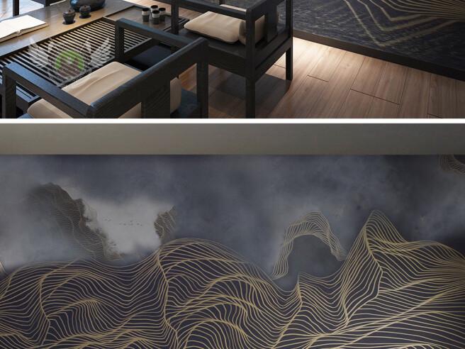 Фотообои Темные текстурные горы