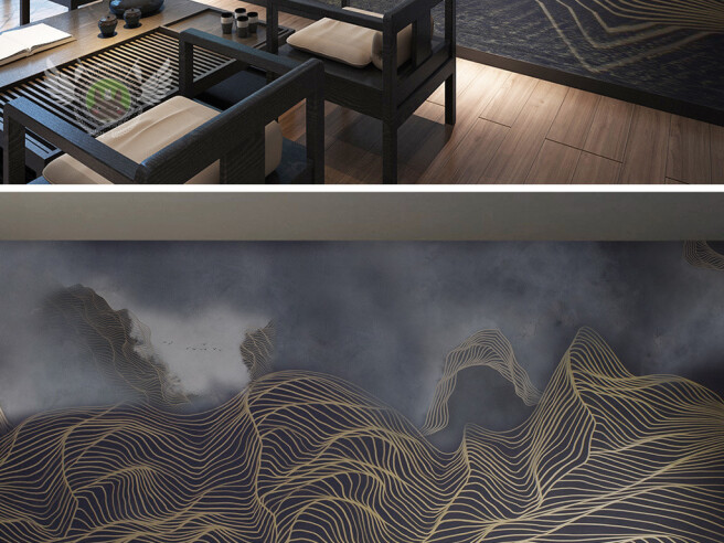 Темные текстурные горы