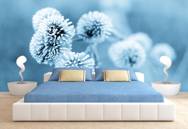 Фотообои зимние цветы