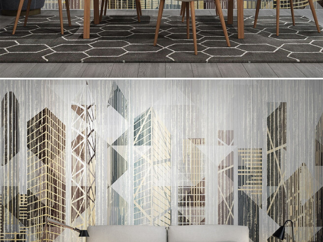 Фотообои Здания из треугольников