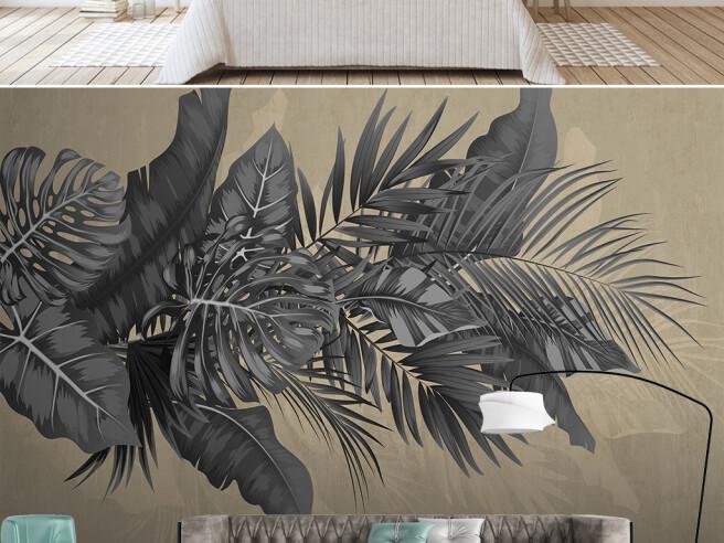 Черные листья пальм