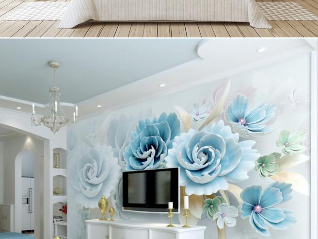 Фотообои Три голубых цветка