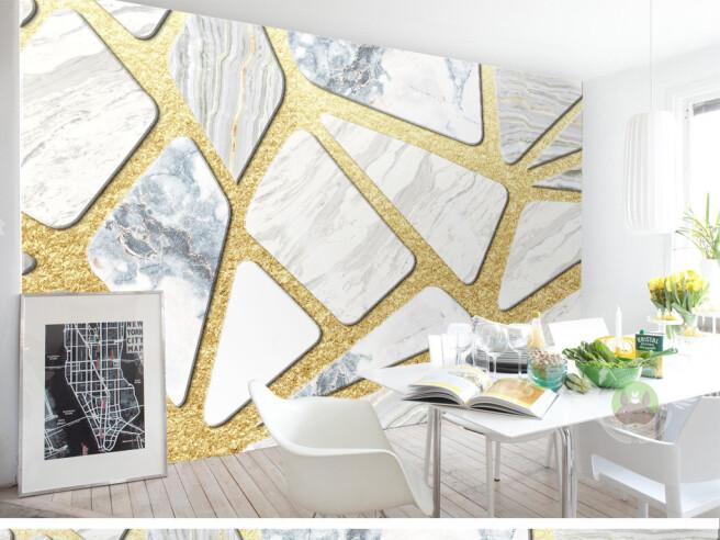 Фотообои Широкие золотые полосы