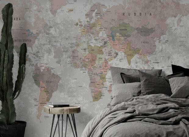 дизайнерская карта мира