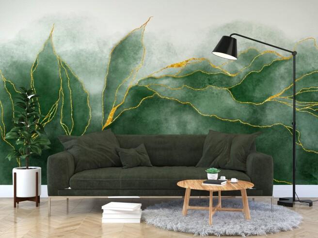 Фотообои флюидные листья