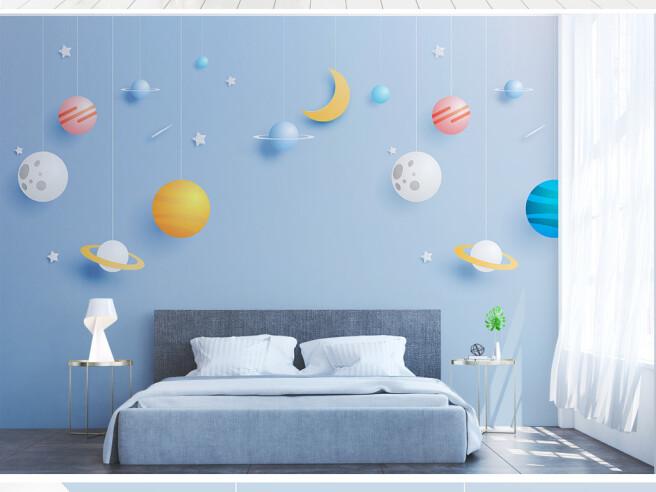 Фотообои Планеты на веревочках