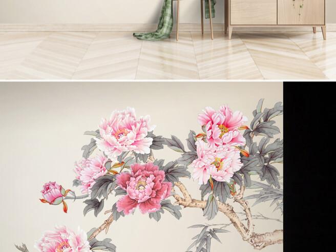 Ветка с розовыми цветами