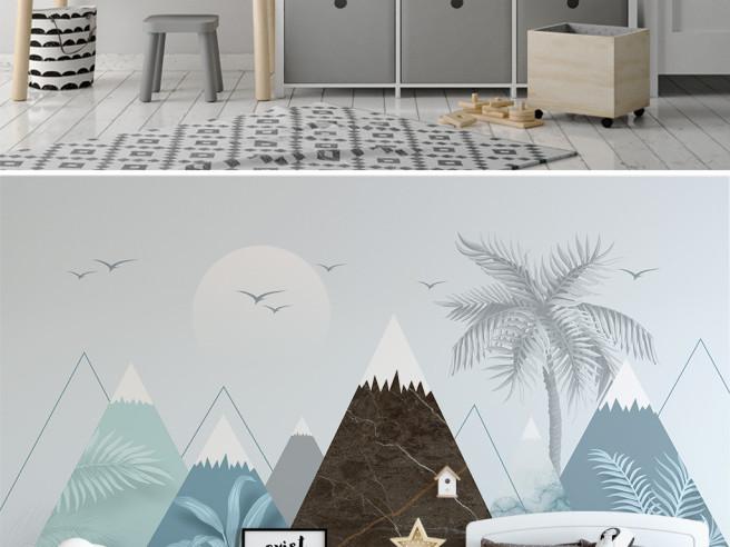 Горы и пальма