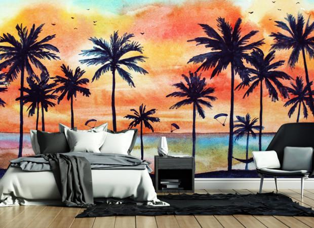 пальмы и краски