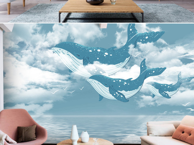 Киты плывут в облаках