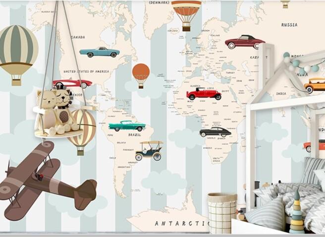 карта с машинами и шарами