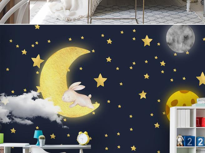 Спящий заяц на луне