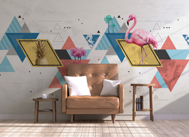 Фламинго на треугольнике