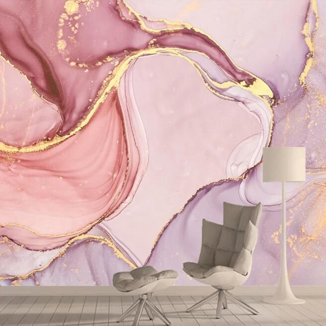 Фотообои Розовый мрамор