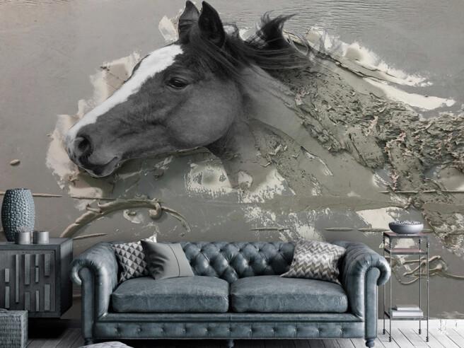 Фотообои Серая лошадь
