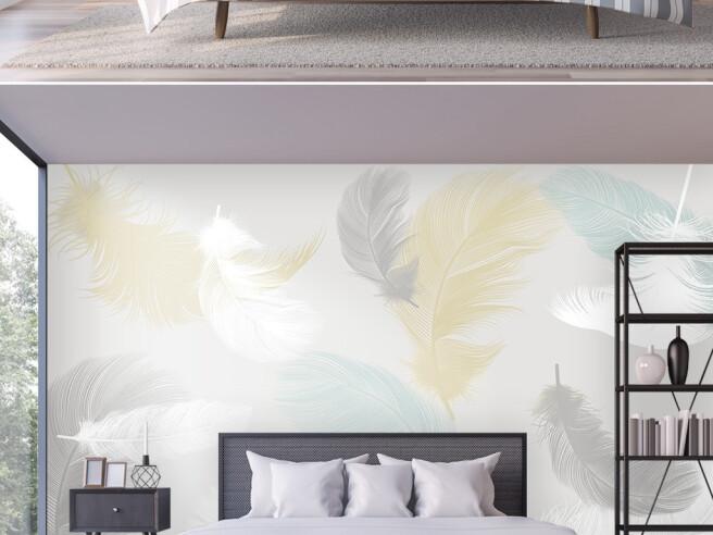 Фотообои Летящие перья