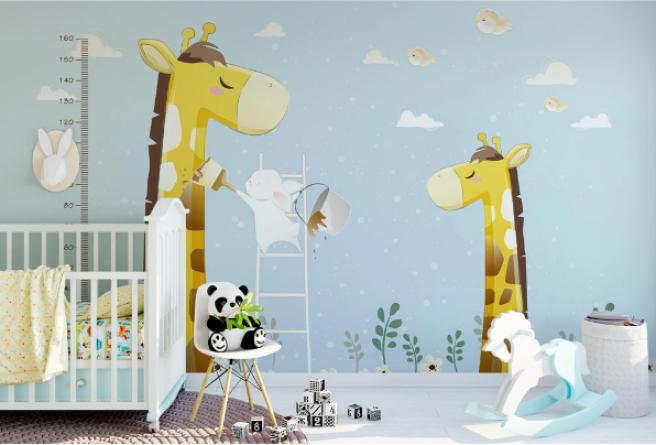 Фотообои жирафы с ростомером