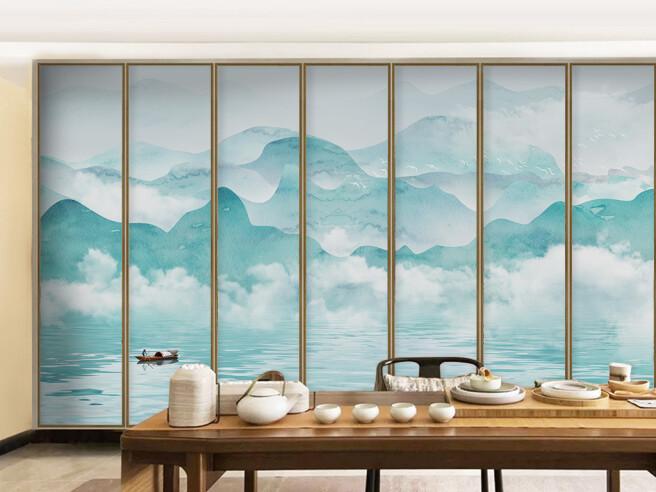 Фотообои Горы за окном